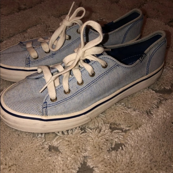 Keds Shoes | Blue And White Stripe Size